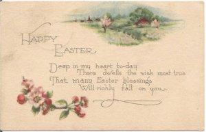 Crab Apple Blossoms Country Cottage Scene 1924 1 Cent Washington Stamp Ephemera