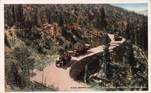 Hairpin Curve, Fall River Road, Rocky Mtn. National Park, Early Postcard, Used