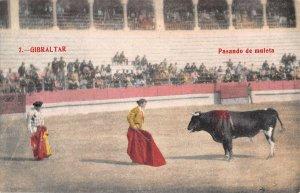 US3092 Spain Gibraltar Pasando de Muleta Bull Fight corrida