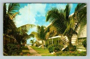 St Petersburg FL- Florida, Dolphin Apartments, Advertising, Chrome Postcard