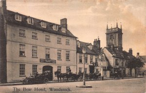 The Bear Hotel, Woodstock, England, Great Britain, Early Postcard, Unused