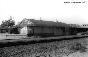 Rocklin California 1977 Southern Pacific train depot real photo pc Z49828