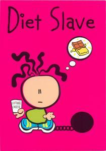 Carlton greetings cards comic postcard diet slave
