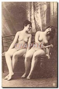 Old Postcard naked women erotic