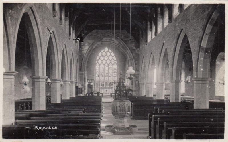 RP: BRAILES , Warwickshire , England , 1939 ; Church Interior