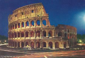 Italy Roma Rome Il Colosseo Notturno At Night