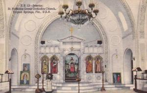 Florida Tarpon Springs St Nicholas Greek Orthodox Curch Interior 1940 Curteich