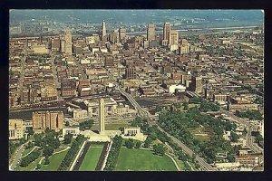 Spectacular Kansas City, Missouri/MO Postcard, Aerial View  Of Downtown