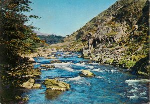Wales Postcard Afon Glaslyn river picturesque scenic landscape