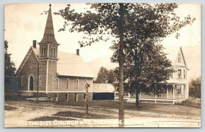Stamford Vermont~Methodist Church & Parsonage~Victorian House~Barn~c1920s RPPC