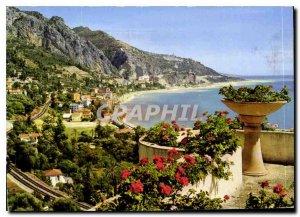 Postcard Moderne Menton Garavan AM View