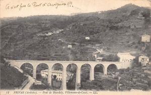France Privas (Ardeche) Pont de Bourdely, Villeneuve-de-Coux Bridge Panorama