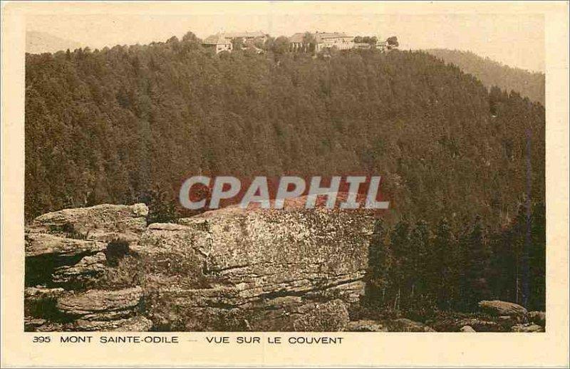 Old Postcard Mont Sainte Odile Convent View