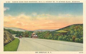 Swannanoa North Carolina~Sunrise On Hwy 70 ~Roadside Building~1940s Postcard