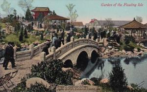 England London Garden Of The Floating Isle Bridge In Japanese Garden Japan-Br...