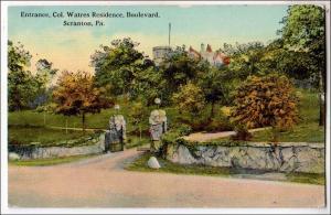Colonel Watres Residence, Boulevard. Scranton PA