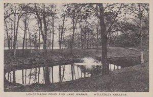 Massachusetts Wellesley Longfellow Pond And Lake Waban Wellesley College Albe...