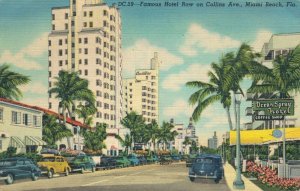 USA - Famous Hotel Row on Collins Ave Miami 03.14
