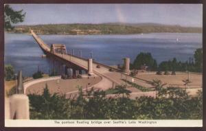 Greeting Washington Armed Services Pontoon Floating Seattle Lake Bridge Postcard
