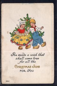 Christmas Joys Boy and Girl Christmas Tree BIN