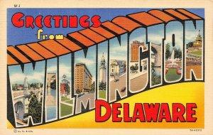 LP42  Large Letters Wilmington Delaware  Postcard