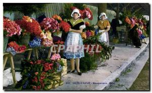 Old Postcard Collection Cote d & # 39Azur Bouquetiere