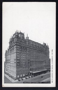 NEW YORK CITY Waldorf-Astoria Hotel Fifth Avenue from 33rd to 34th Streets Und/B