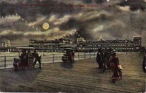 New Jersey Atlantic City View Of Million Dollar Pier By Moonlight 1911