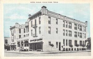 Eagle Pass Texas Hotel Eagle Antique Postcard J52603