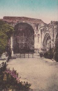 California San Juan Capistrano Ruins Of Old Stone Church Old Mission Handcolo...