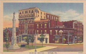 Pennsylvania Butler Nixon Hotel Curteich