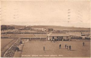 uk28800 bowling greens and tenis courts rhyl wales real photo uk