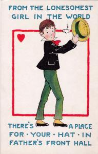 VALENTINE, 00-10s; Boy In Love Holding A Hat