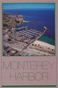 Panoramic View Of Montereys Fishermans Whaf And Boat Haven Monterey Califonia