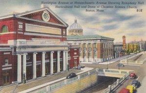 BOSTON, MA, 1930-40s; Huntington & Massachusetts Aves., Symphony & Horticultu...