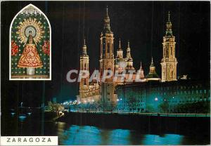 Postcard Modern Zaragoza Image Temple of Our Lady of El Pilar