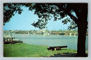 Lewes DE- Delaware, Anglers Restaurant, Intercoastal Waterway, Chrome Postcard