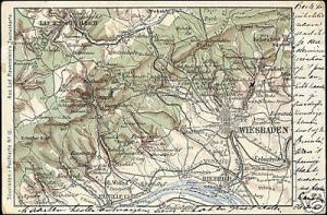 germany, WIESBADEN, Hessen, MAP pc (ca. 1900)