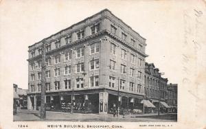 Meig's Building, Bridgeport, Connecticut, Early Postcard, Unused