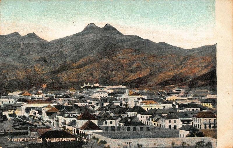 Cape Verde Mindello S. Vincente C. V. Panorama Postcard