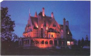 Night View Craigdarroch Castle, Victoria, British Columbia, BC, Canada, Chrome