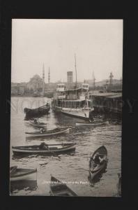 077364 CONSTANTINOPLE Stanboul ship in port Vintage photo PC