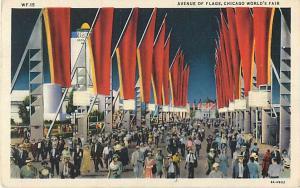 Avenue of Flags, 1933 Century of Progress Exhibition Chicago IL
