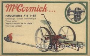 Mccormick  Advertising Postcard Post Card  Mccormick
