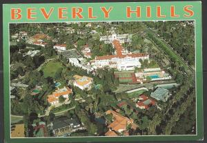 1996 California, Beverly Hills, aerial view, mailed to Germany