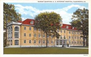 Alexandria Louisiana~US Veterans Hospital~Nurses' Quarters~1930 Linen Postcard