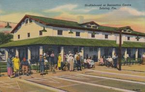 Florida Sebring Shuffleboard At Recreation Centre Curteich