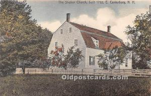 Old Vintage Shaker Post Card The  Church Builtin 1792 East Canterbury, New Ha...