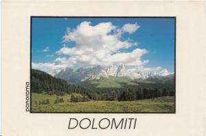 Italy, DOLOMITI, panorama, used Postcard