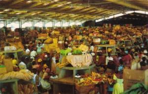 Jamaica Typical Market Scene